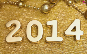 Happy New Year Wishes 2014 HD Wallpaper with Greetings Quotes