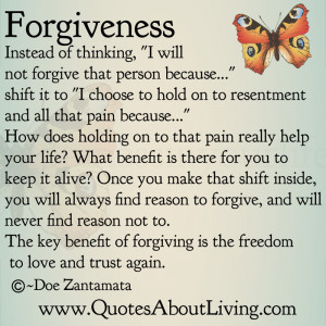 Forgiveness - Shift in Thinking