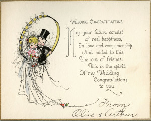 COLLECTION #244: Vintage 1920s Wedding Cards