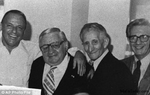 Frank Sinatra and mobsters Tommy 'Fatso' Marson, Don Carlo Gambino ...