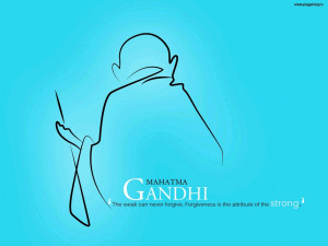 Famous and Great Person Mahatma Gandhi Quotes Wallpaper By Shallender ...