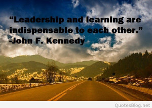 Leadership and learning quote
