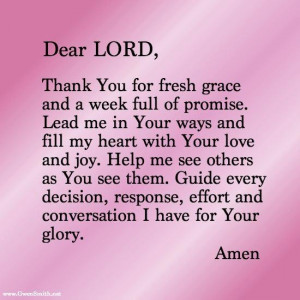 Good Morning Prayer Quotes