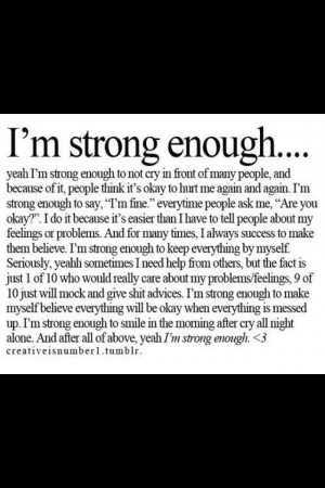 am strong enough!