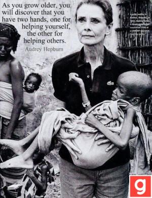 Audrey Hepburn; died at 62- colon cancer. An amazing woman! Audrey ...