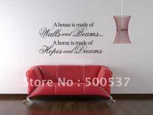 Vinyl quote wall stickers, Fashion house Decorative mural wall quotes ...