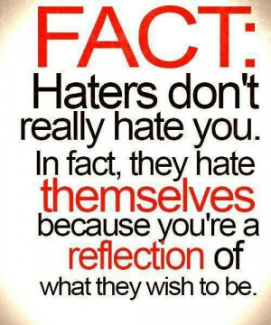 Haters.....