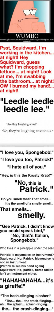 Hahaha, best spongebob quotes EVER!