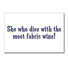 Funny Quilters Quote Postcards (Package of 8) for
