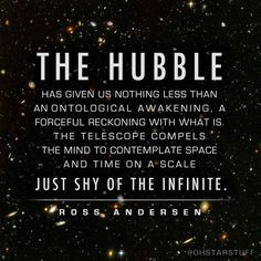 awakening, a forceful reckoning with what is. The telescope ...
