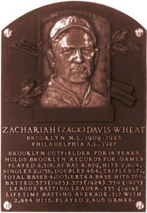 Zack Wheat Baseball Player