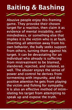 narcissistic personality disorder | Baiting & Bashing (B&B ...