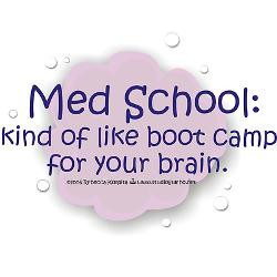 med_school_boot_camp_bumper_bumper_sticker.jpg?color=White&height=250 ...