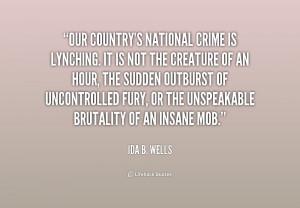 Ida B Wells Lynching Quotes