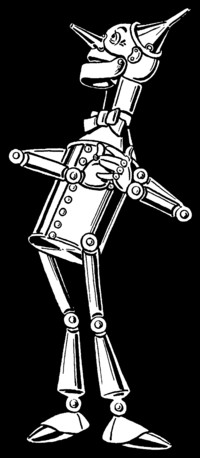 The Tin Woodman as illustrated by William Wallace Denslow (1900)