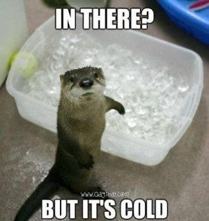 But it's cold in there…