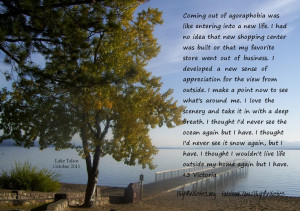 Coming out of agoraphobia...