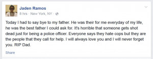 ... Cop's 13-year-old Son Shares His Grief on Facebook: 'RIP Dad