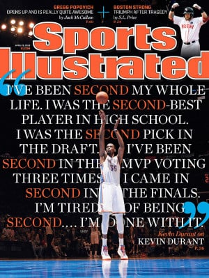 Kevin Durant: 'I'm tired of being second … I'm done with it'