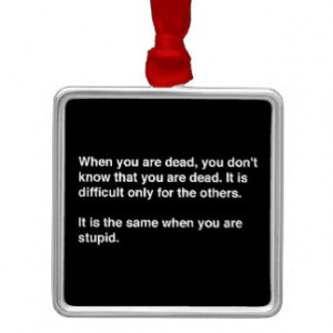 FUNNY HUMOR QUOTES DEAD STUPID LAUGHS INSULTS COMM SQUARE METAL ...