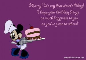 Birthday Quotes For Sister