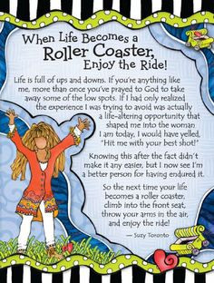 Blue Mountain Arts When Life Becomes a Roller Coaster by Suzy Toronto ...