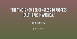 The time is now for Congress to address health care in America.