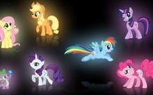 my little pony fluttershy rainbow dash twilight sparkle rarity pinkie ...