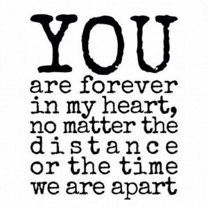 boy, distance, forever, heart, love, miss you, quote, quotes