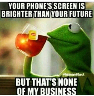 But That 39 S None Of My Business Kermit The Frog Meme Generator