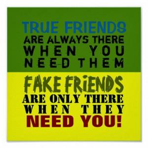 TRUE FRIENDS VS. FAKE FRIENDS