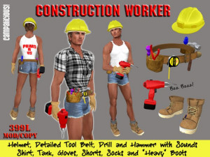 Construction Worker - Outfit for Builders (Men)
