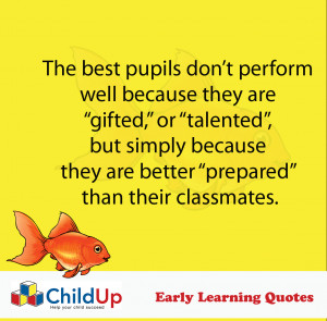 ChildUp Early Learning Quote #012 (Gifted or Talented)