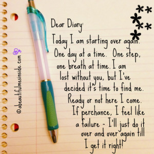 boy writing a diary