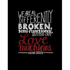 ... Hank Green Quote Text 18x24in Signed Typography Poster, $15 via DFTBA