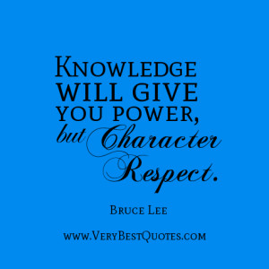 Knowledge and character