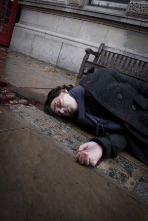 shigeako-cosplay:this is a little preview of our Reichenbach Fall ...
