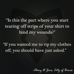 ... City of Bones | Book Series by Cassandra Clare | #quotes | Clary and