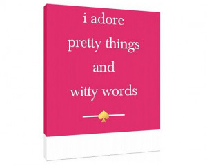 Kate Spade Quote - Canvas- Custom Fashion Art Print - inspired by Kate ...