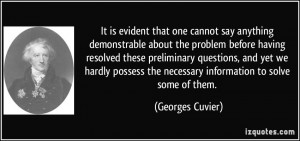 More Georges Cuvier Quotes