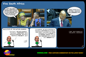 Jacob Zuma delivers the 2015 State of the Nation, under some telling ...