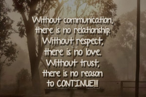 Withoutcommunication, there is no relationship. Without respect, there ...