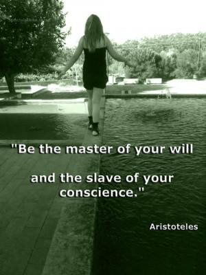 Aristoteles quote #conscience #Feeling Quotes #master #senhor #slave ...
