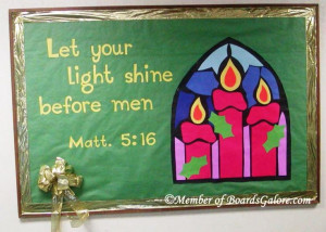 Christmas Church Bulletin Board-- with a color change could be good ...