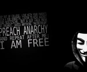 anonymous freedom text quotes typography anarchy only black HD ...