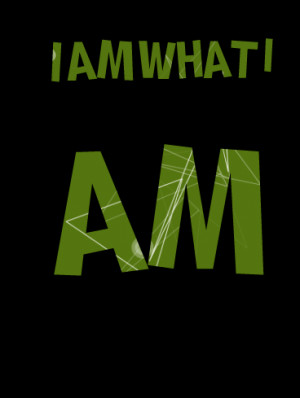 Quotes Picture: i am what i am