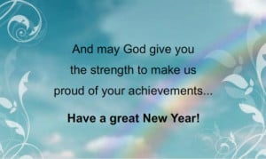 And may God give you the strength to make us proud of your ...