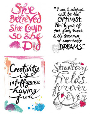 Painterly strokes form the letters for favorite quotes at ...