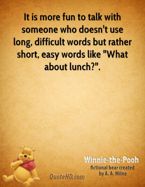 ... difficult words but rather short, easy words like