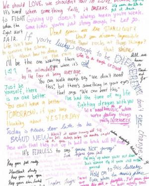 Taylor Swift Song Lyrics Quotes Taylor